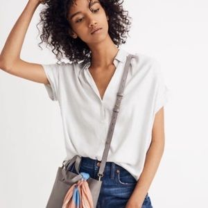 Madewell Pure White S/S Central Button Down Shirt